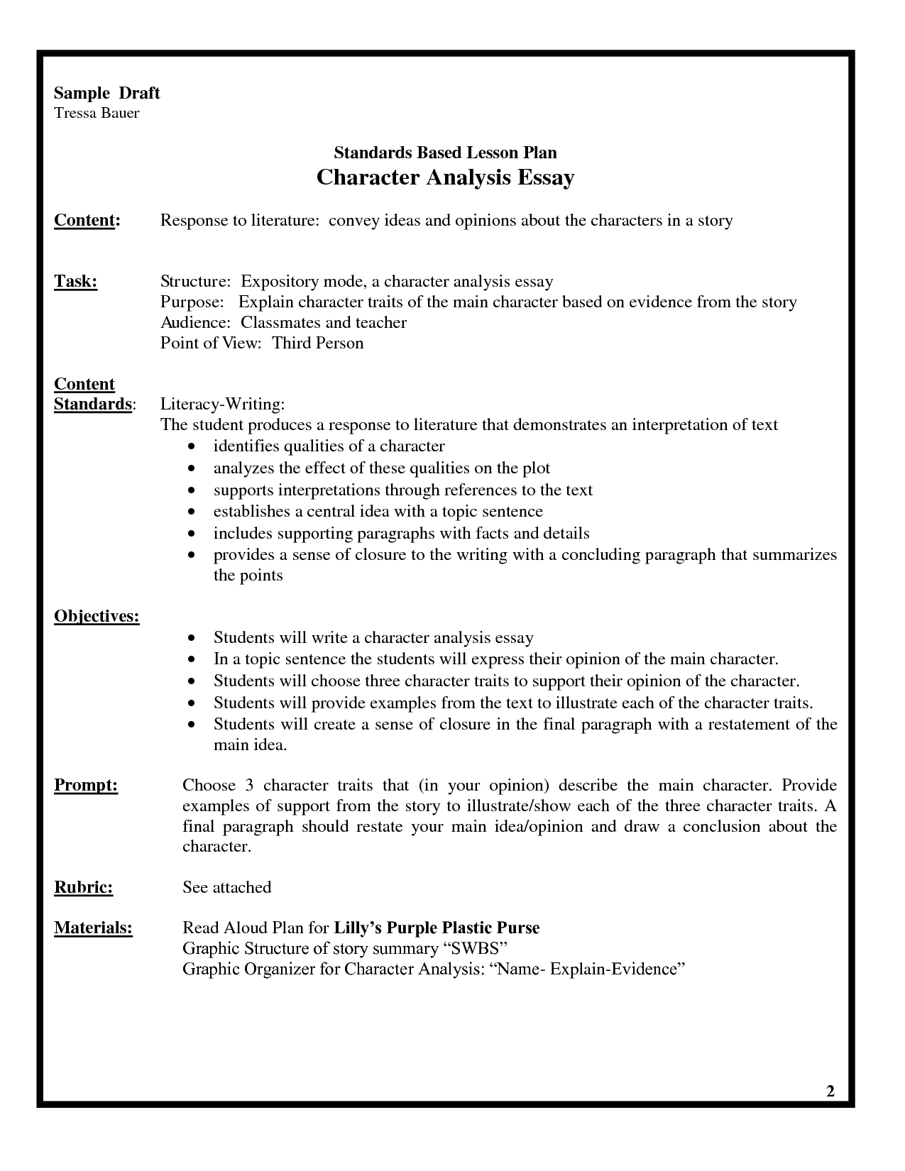 essay five lesson paragraph plan The central idea of their piece 11 model how to turn the facts into cohesive sentences and paragraphs using transition words (such as 'for example', 'finally', etc), descriptive vocabulary, voice.