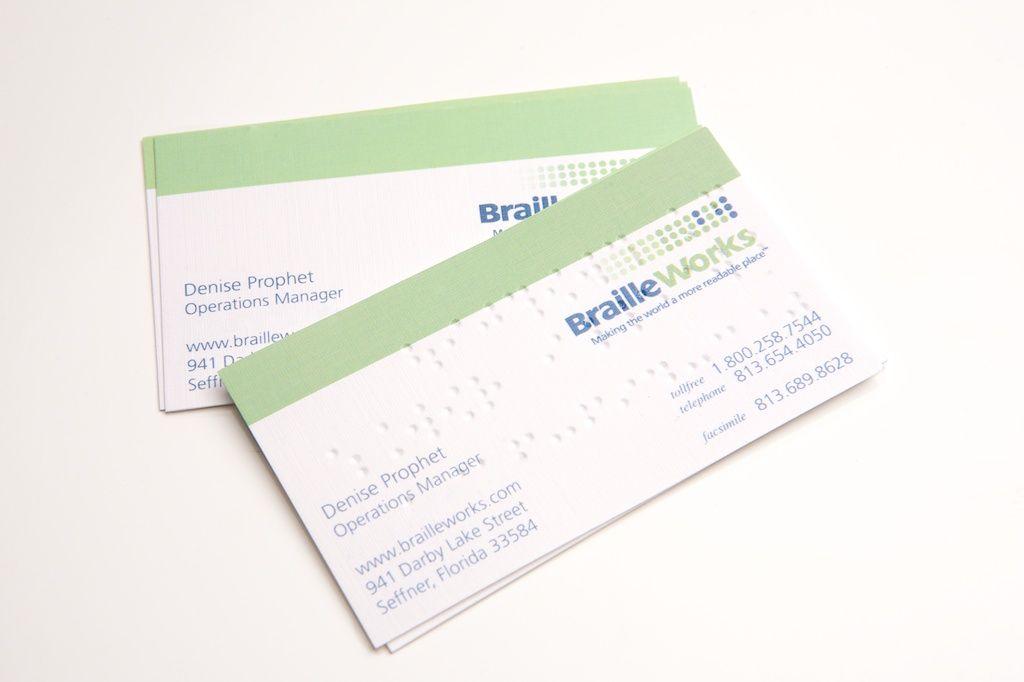 Braille visitkort visitkort inspiration design