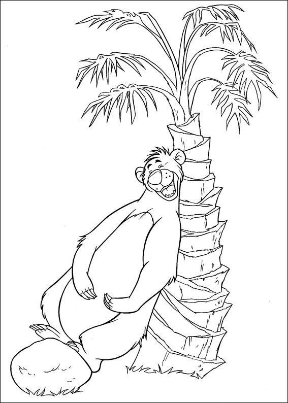 Das Dschungelbuch Ausmalbilder 1 | Ausmalbilder, Disney ...