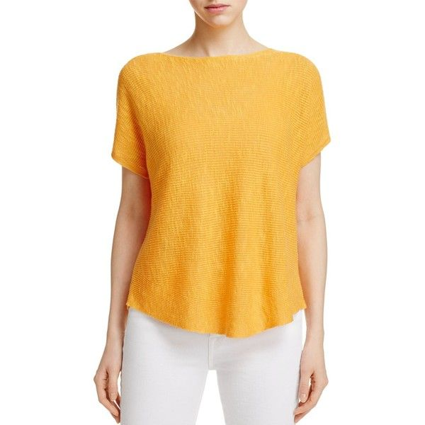 Eileen Fisher Short Sleeve Boxy Sweater ($145) ❤ liked on ...