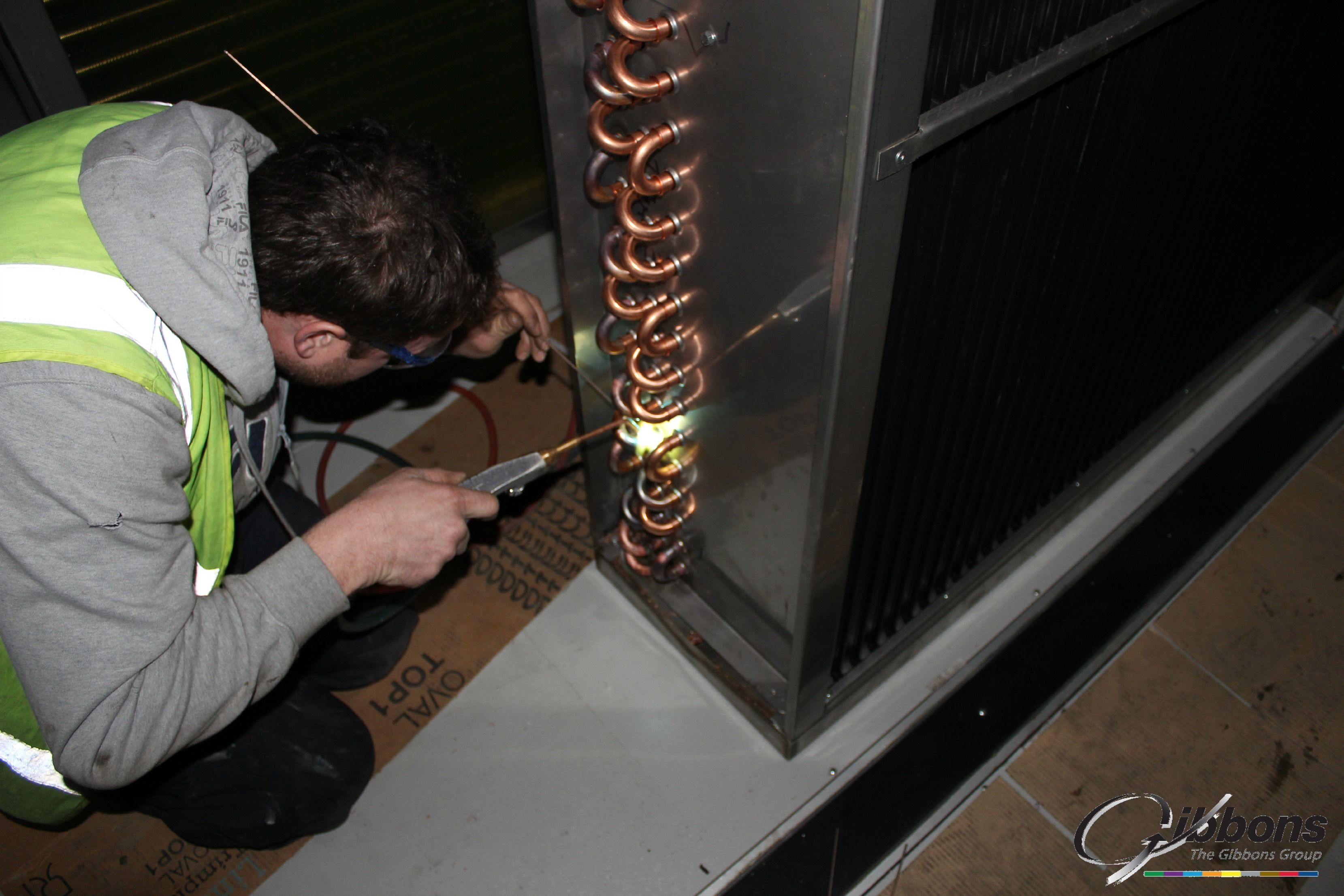 Our Engineer Is Working Hard On A Pool Coil Hvac