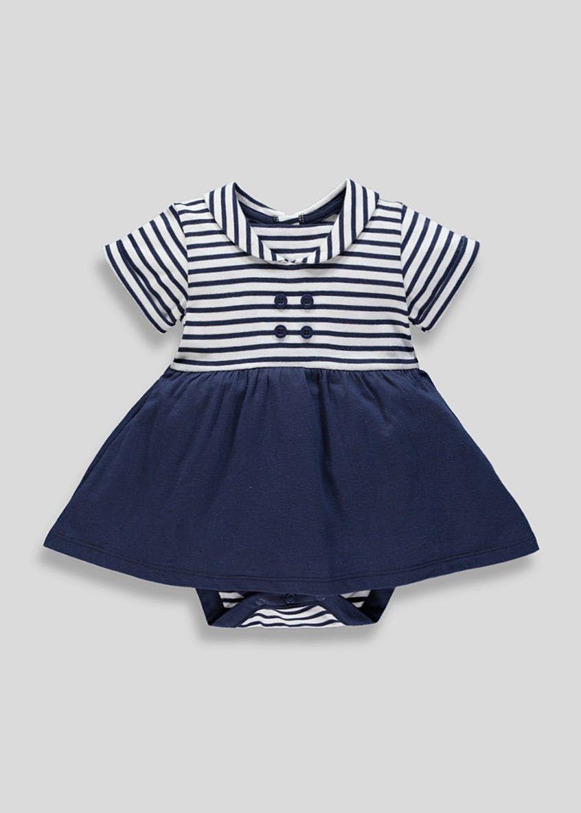 b0a4928a639 Girls Sailor Dress Bodysuit (Newborn-18mths) – White   Baby Clothes ...