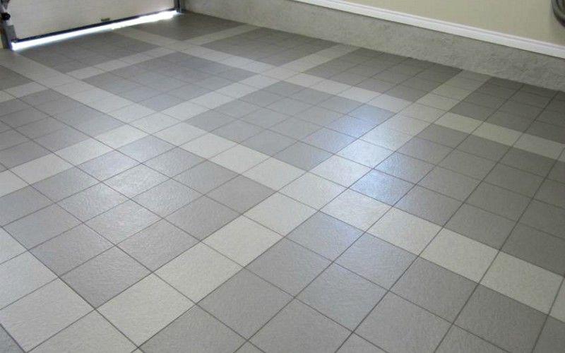 Porcelain Tiled Garage Floor