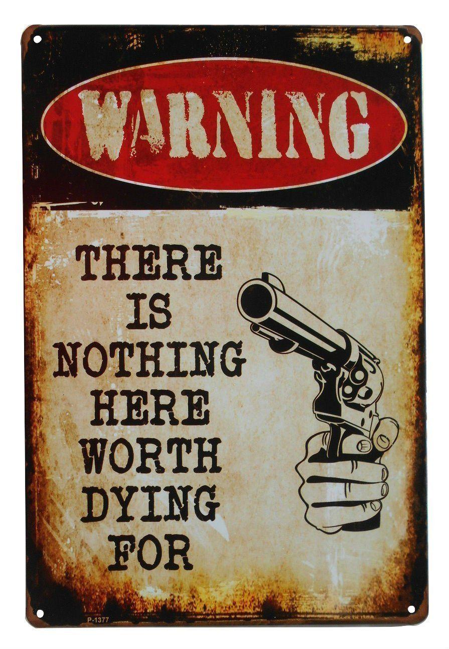 Warning No Trespassing Funny Tin Sign Bar Pub Garage Home