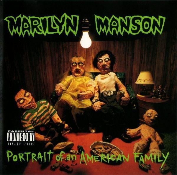 Marilyn Manson Portrait Of An American Family Album Cover Art Marilyn Manson Album Covers