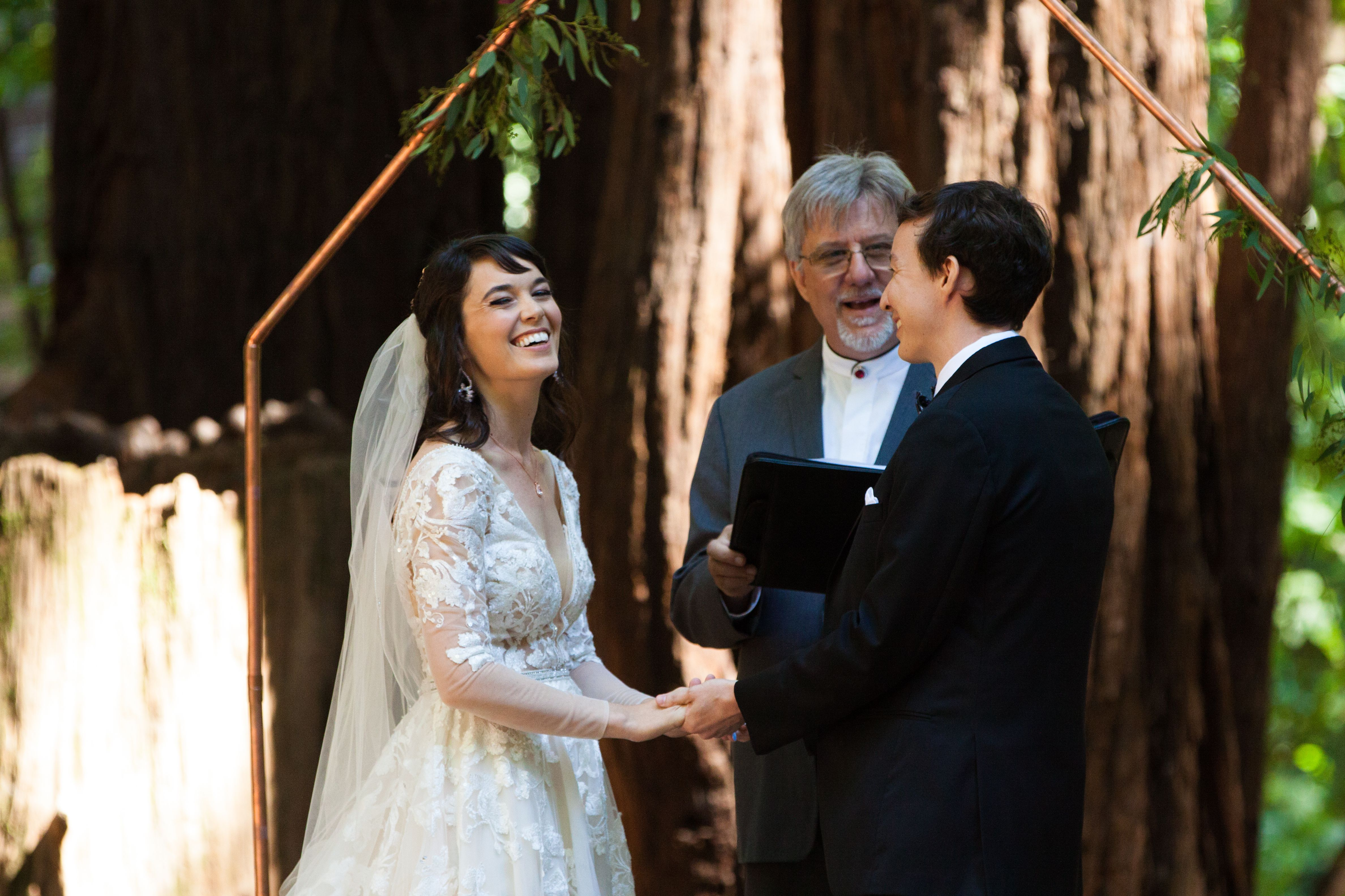Happiness In The Redwoods In 2020 Wedding Officiant California Wedding Iconic Weddings