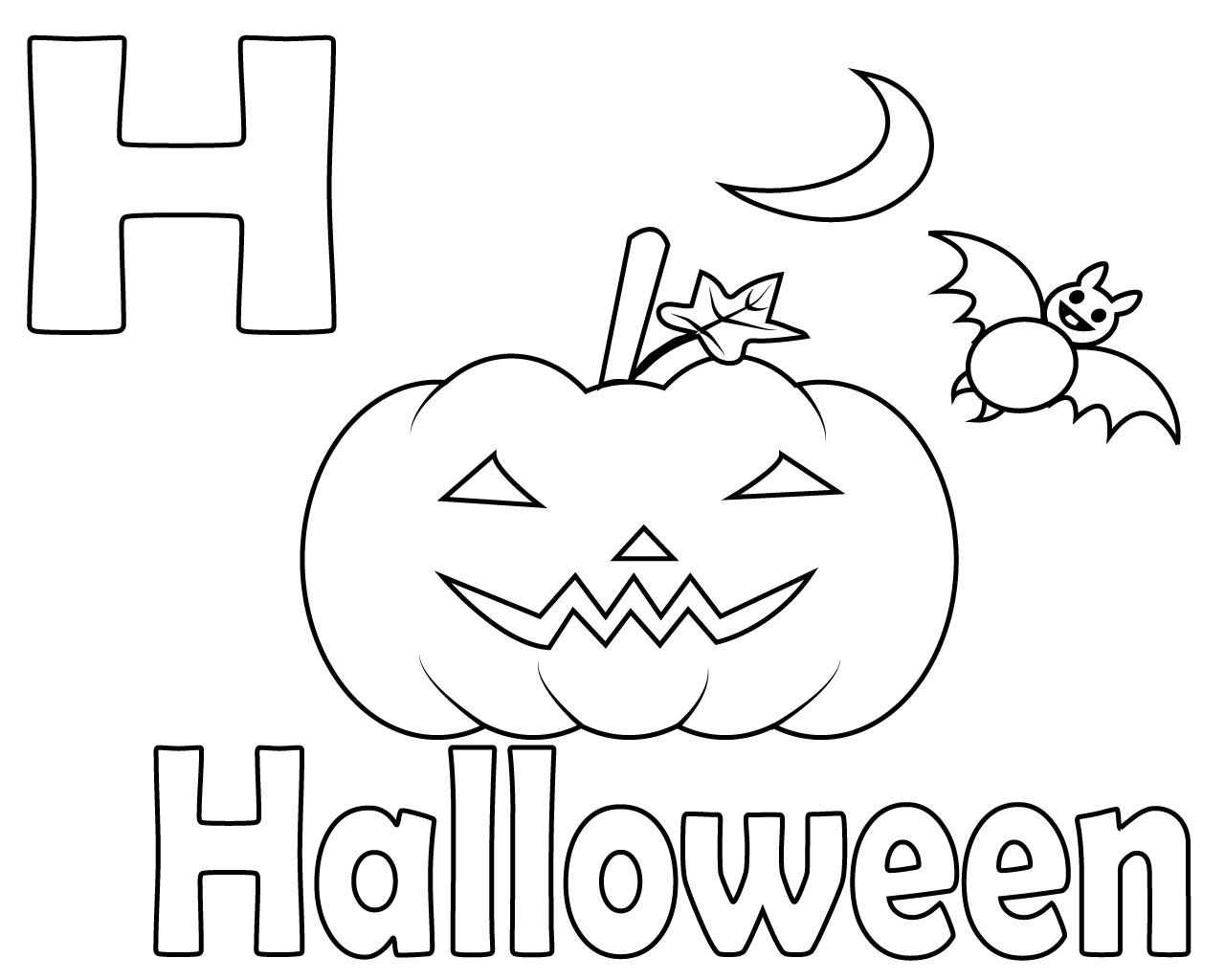 Free Printable Letter H Coloring Pages | CareersPlay ...