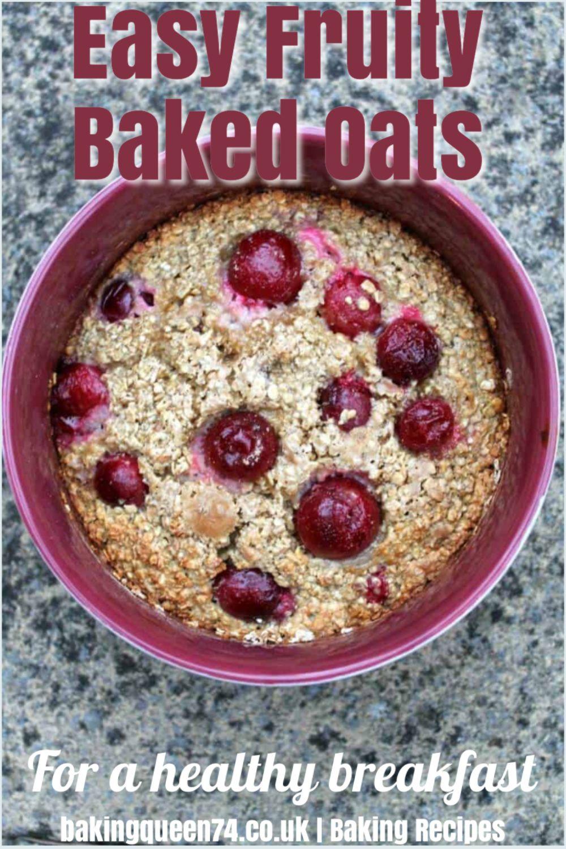Fruity Baked Oats Bakingqueen74 In 2020 Gooseberry Recipes Baked Oats Berries Recipes