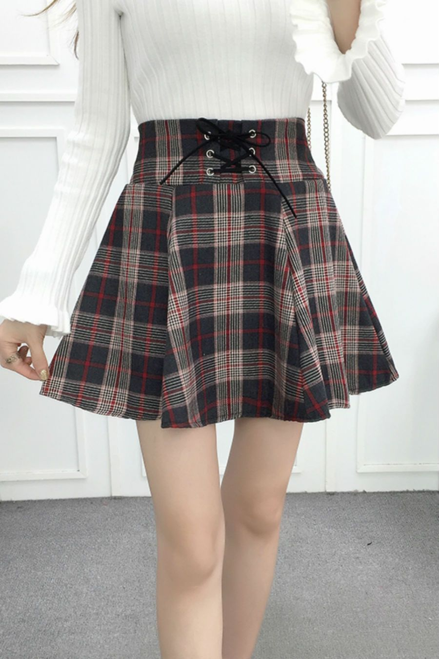 b7c32805c7 Red Tartan High Waist Skirt in 2019 | Bagpipe outfits? | High ...