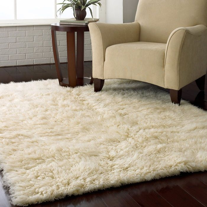 3 5 Ft X Hand Woven Wool Flokati Area Rug In Natural Color