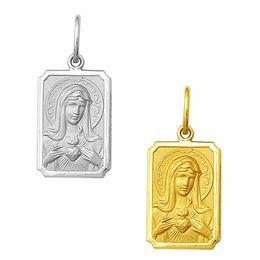 Medalha em Ouro do Imaculado Coração de Maria - Retangular
