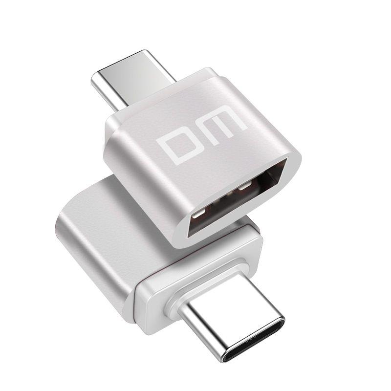 Dm Type C Silver Type C Adapter Usb Converter Adapter Type