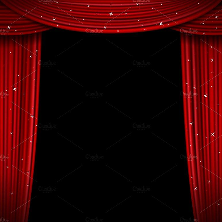 Glittering Red Curtain Red Curtains Curtains Curtains Vector