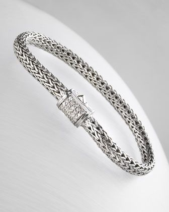 Pave Diamond Bracelet by John Hardy at Neiman Marcus