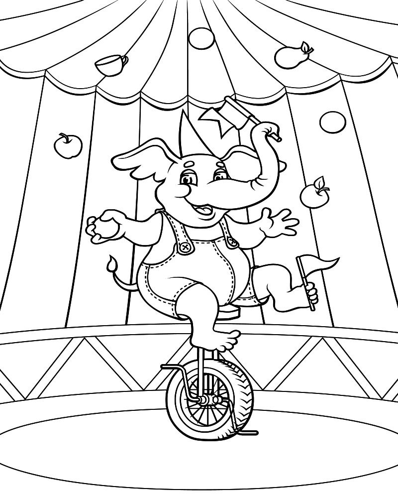 Circus Coloring Pictures Of Animals Circus Tent Coloring Sheet