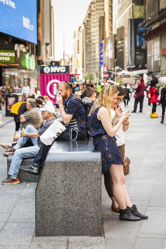 Snohetta S Redesign At Times Square Landscape Architecture Furniture Stone Bench Seat Square Plaza Ne Times Square Public Space Landscape Architecture