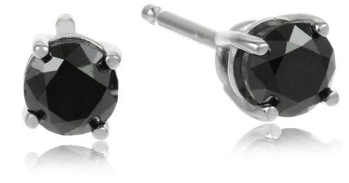 White Gold Round Black Diamond