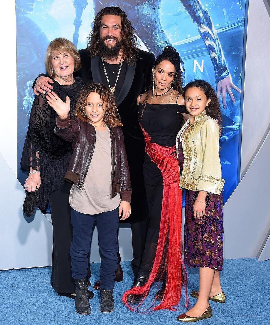 Jason Momoa The Momoa Ohana Attends The L A Aquaman Movie Premier