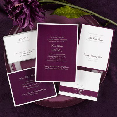 Love These Invitations Cly Simple And Elegant The Monogrammed Letters Too