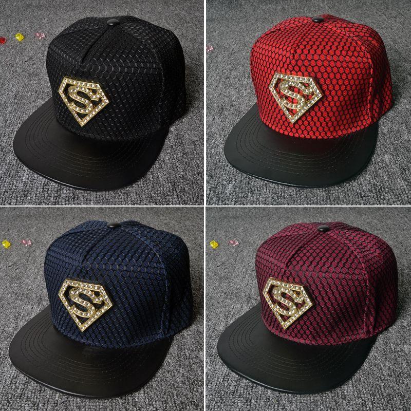 a0fc6e814e3 Hot Fashion Hip Hop Superman Snapback Caps Hats For Men Women Summer Casual  Baseball Cap Hat