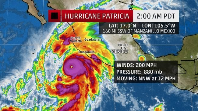 hurricane patricia becomes strongest