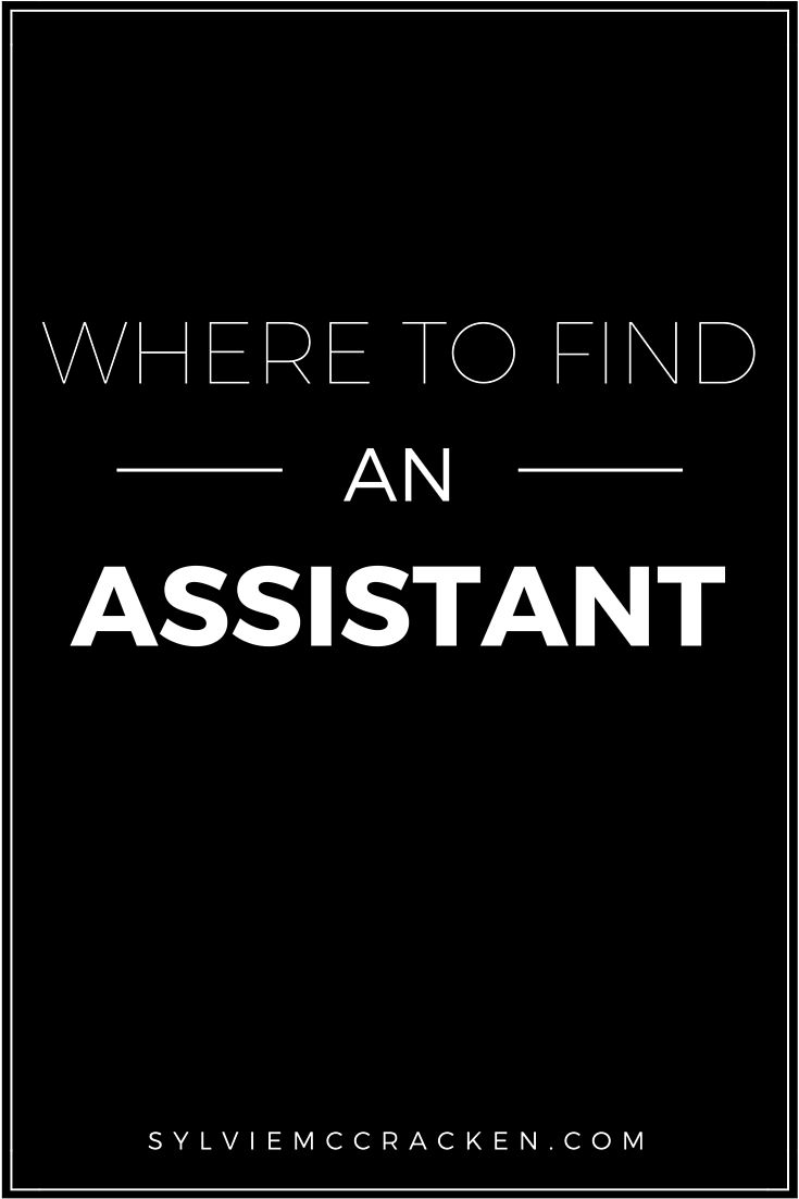 Where to Find an Assistant - Sylvie McCracken