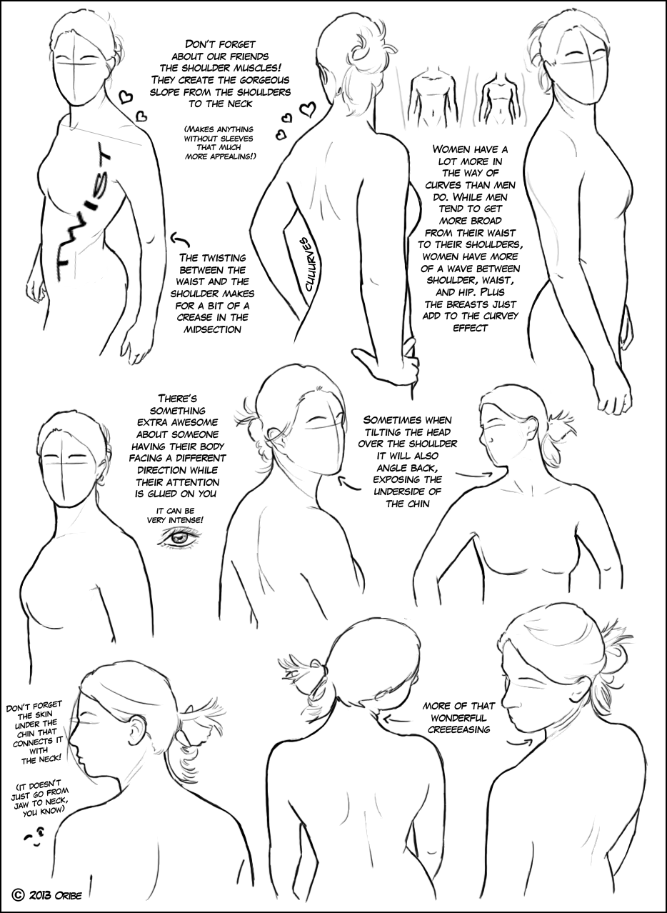 Over The Shoulder Female Tutorial Drawings Figure Drawing Drawing People