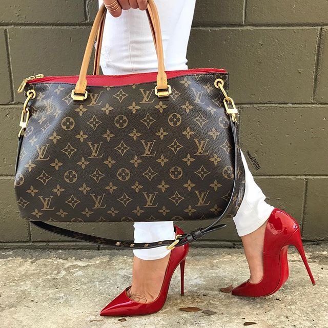 82ebdb3ecf7b Are you red-y or not for Louis Vuitton   Christian Louboutin  Shop them NOW  on www.mymoshposh.com!