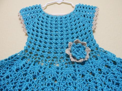 Blusa Para Vestido 8 A 10 Años Crochet Youtube