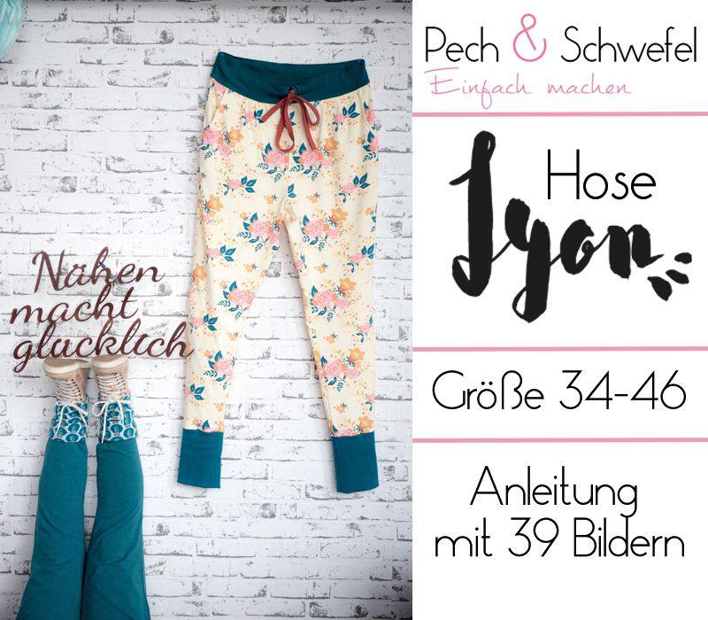 Hose Lyon, A4, Einzelgrößenschnitt Grösse 34 - 46 (E-Book) - Pech&Schwefel Shop #diyclothes