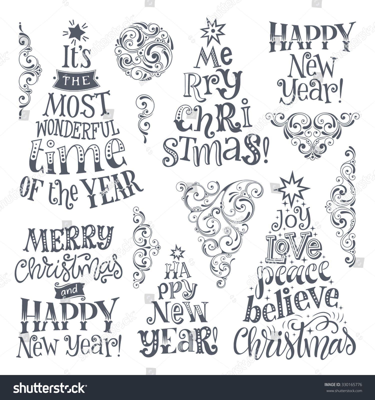Weihnachten Schrift