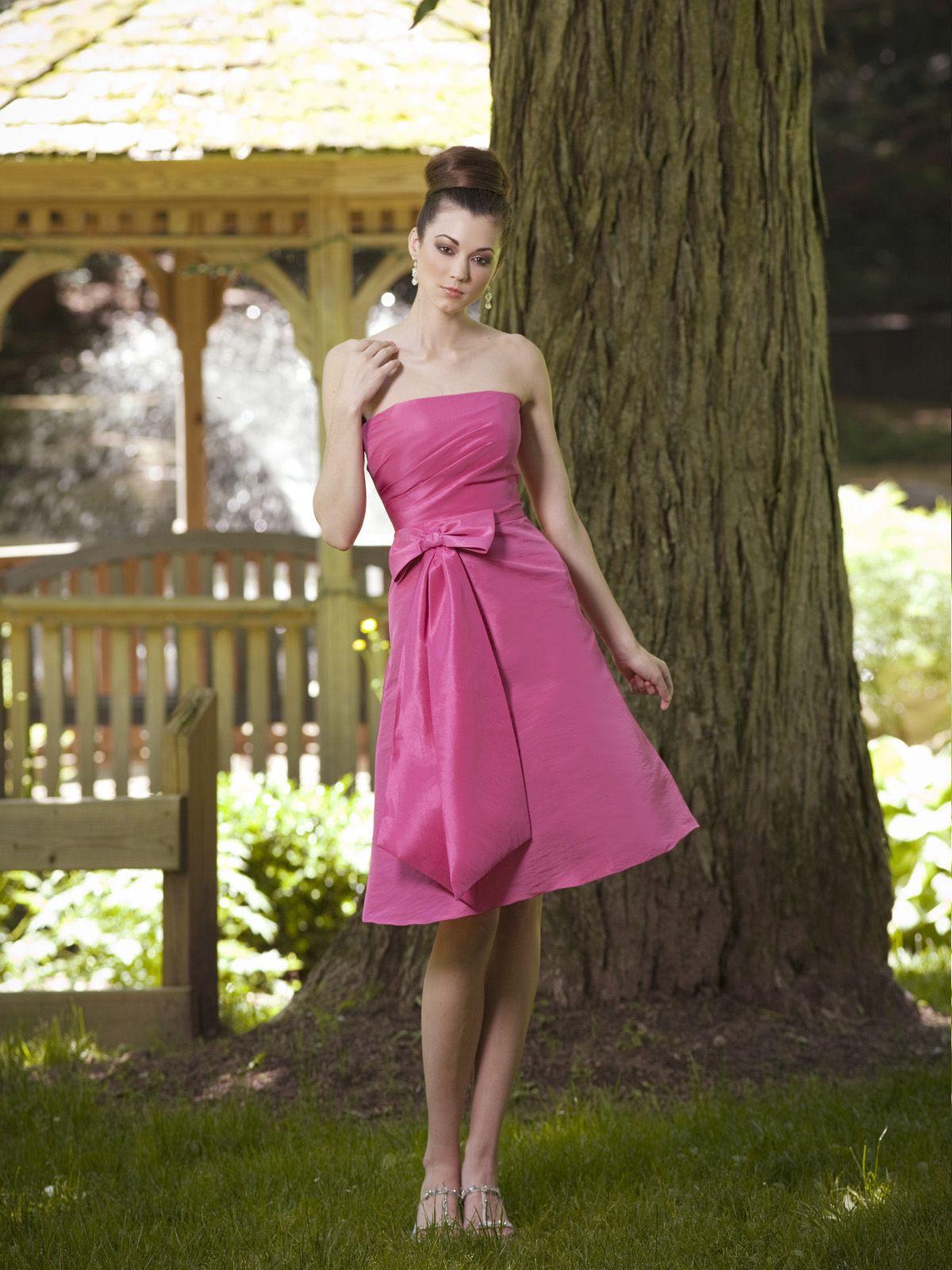 A-line strapless pretty taffeta bridesmaid dress | Dresses & Shoes ...