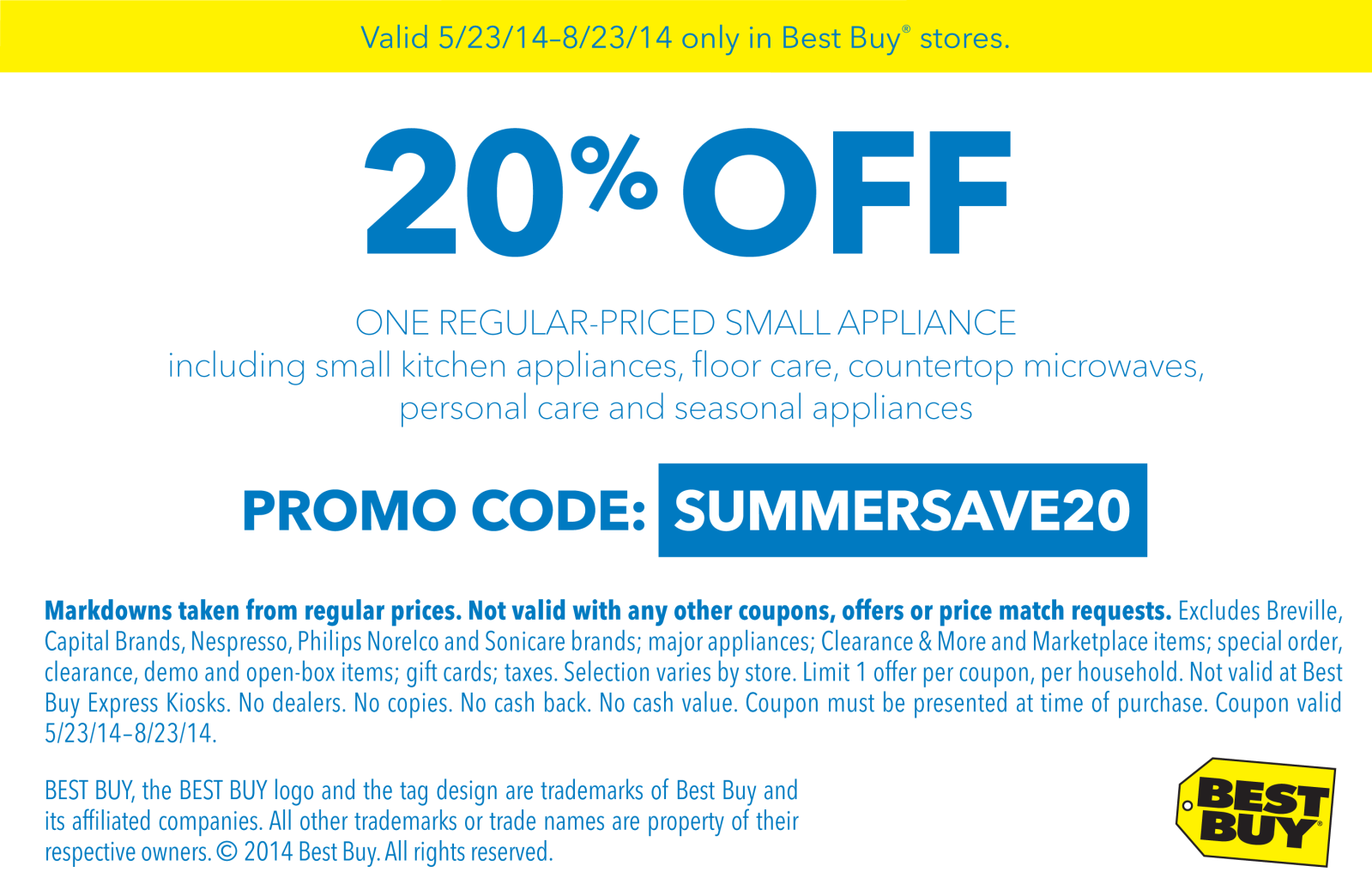 Pinned May 27th 20 off small appliances at BestBuy all
