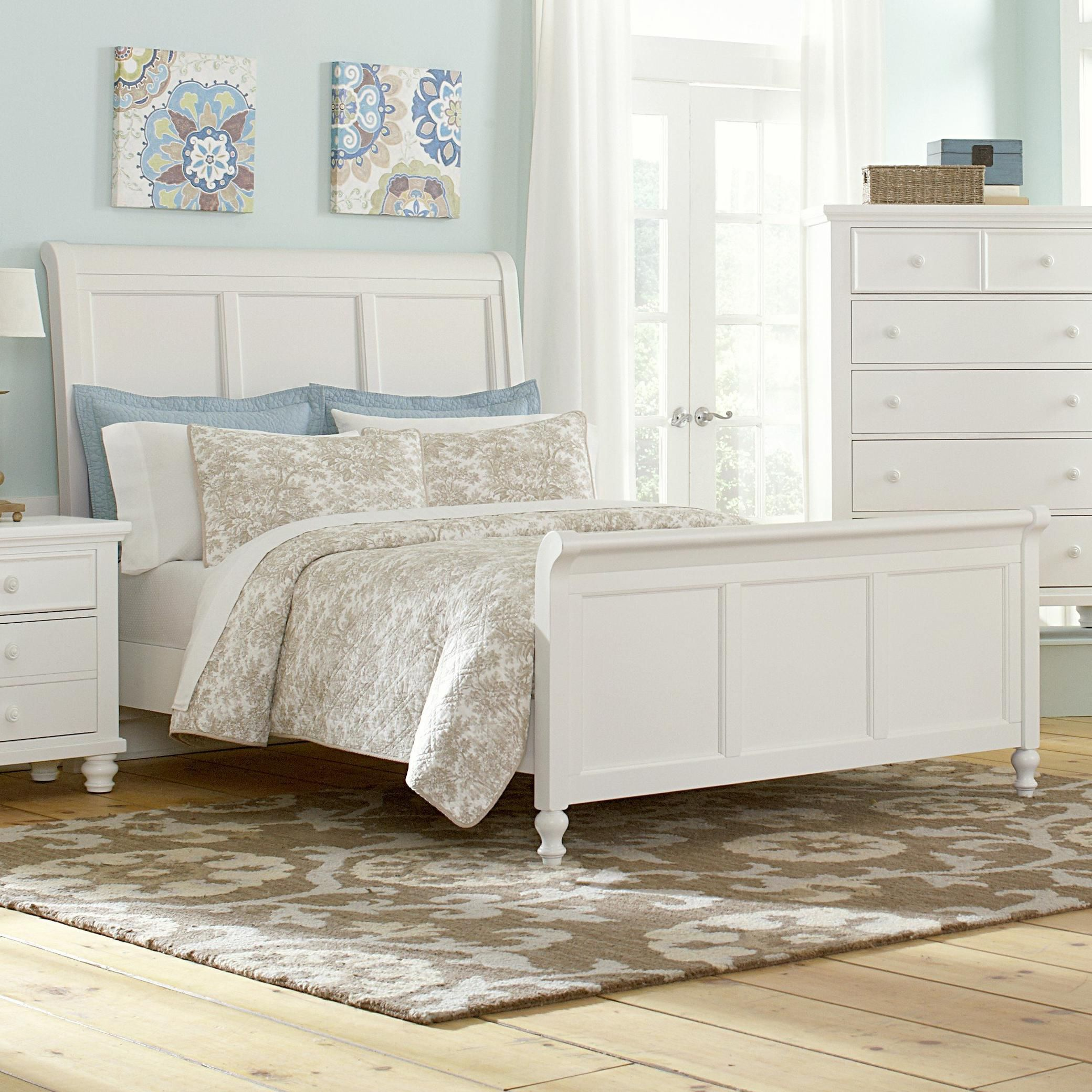 Ellington King Transitional Sleigh Bed By Vaughan Bassett   Riverview  Galleries   Sleigh Bed Furniture Store