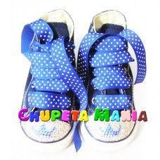 Tênis All Star Azul Coroinha Swarovski