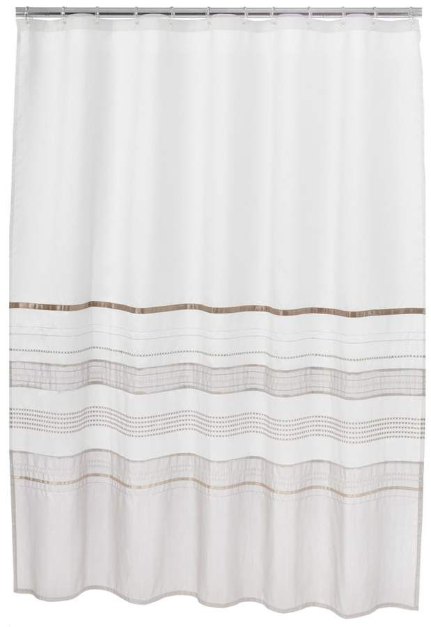 Home Classics Shimmer Fabric Shower Curtain Fabric Shower
