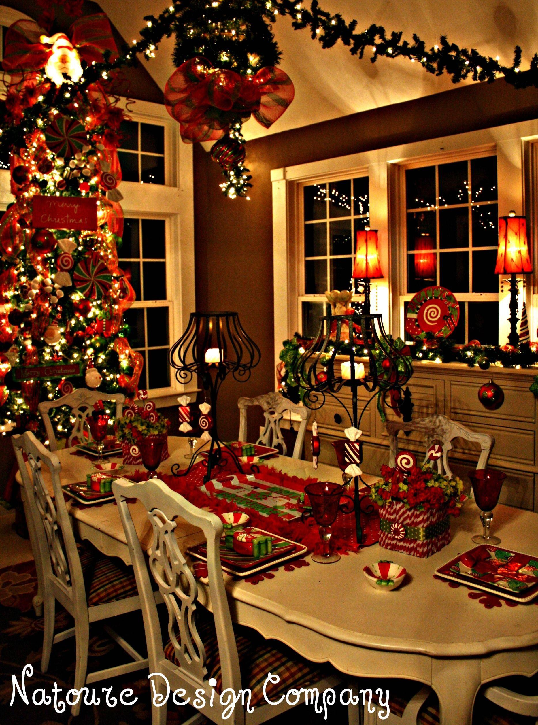 Christmas dining room unbelievably stunning - Christmas room decor ideas ...