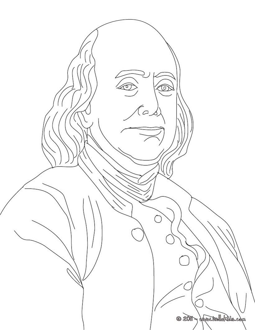 BENJAMIN FRANKLIN coloring page Mystery of History 4 Pinterest