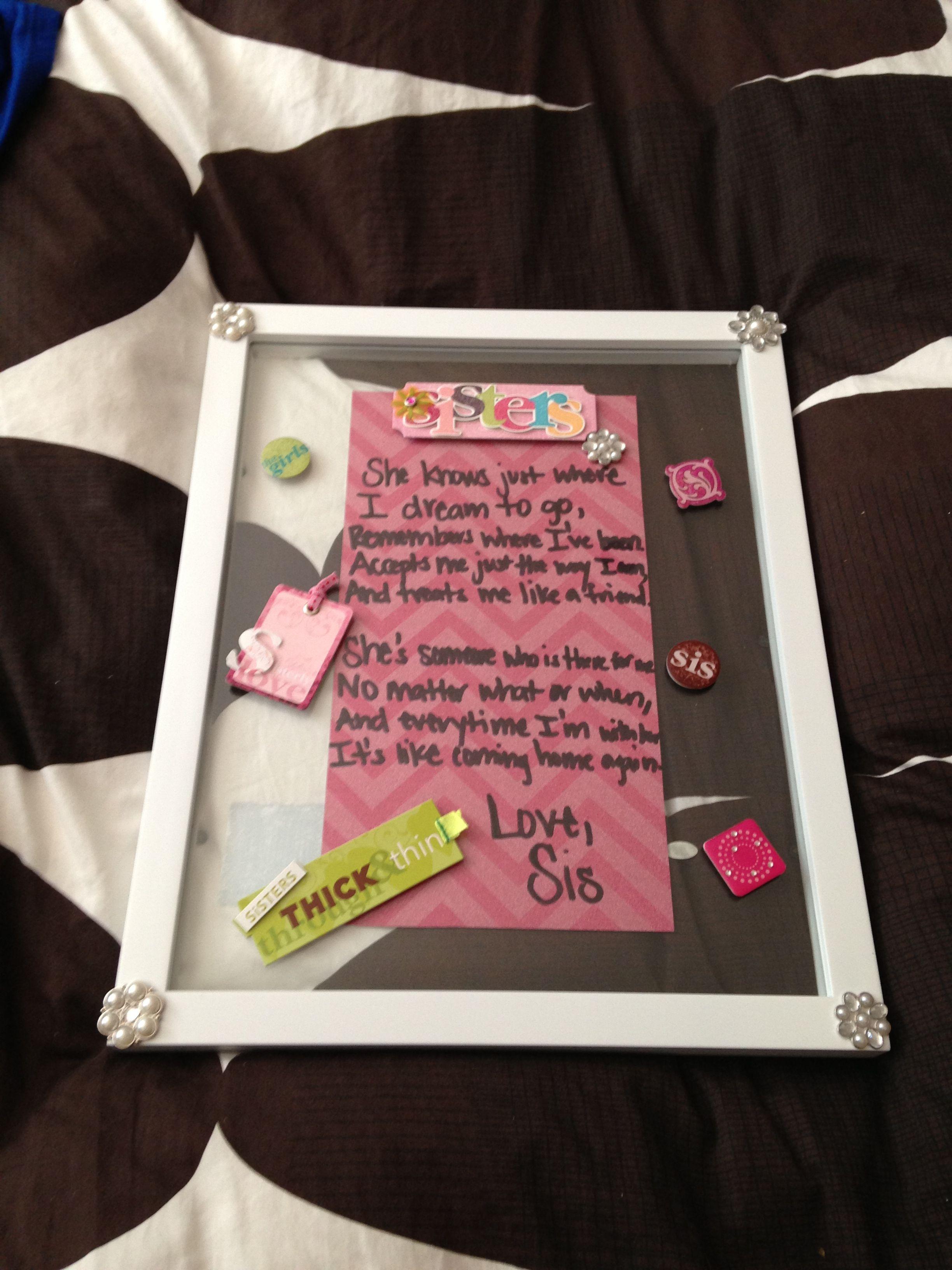 Cute birthday gift idea for my sister) Best birthday