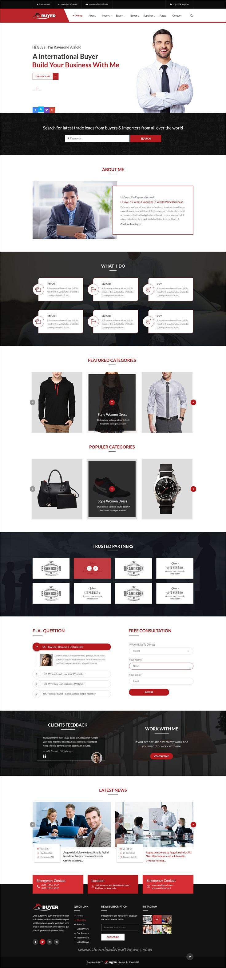 Buyer - Export/Import Business PSD Template | Psd templates ...