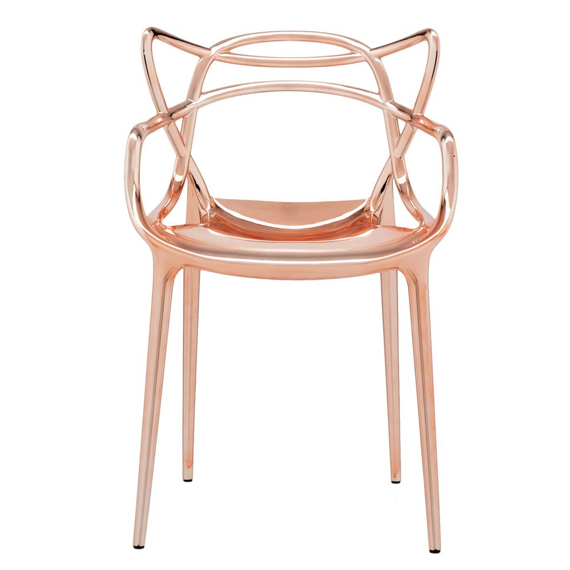 this gorgeous copper chair will look great in a contemporary home