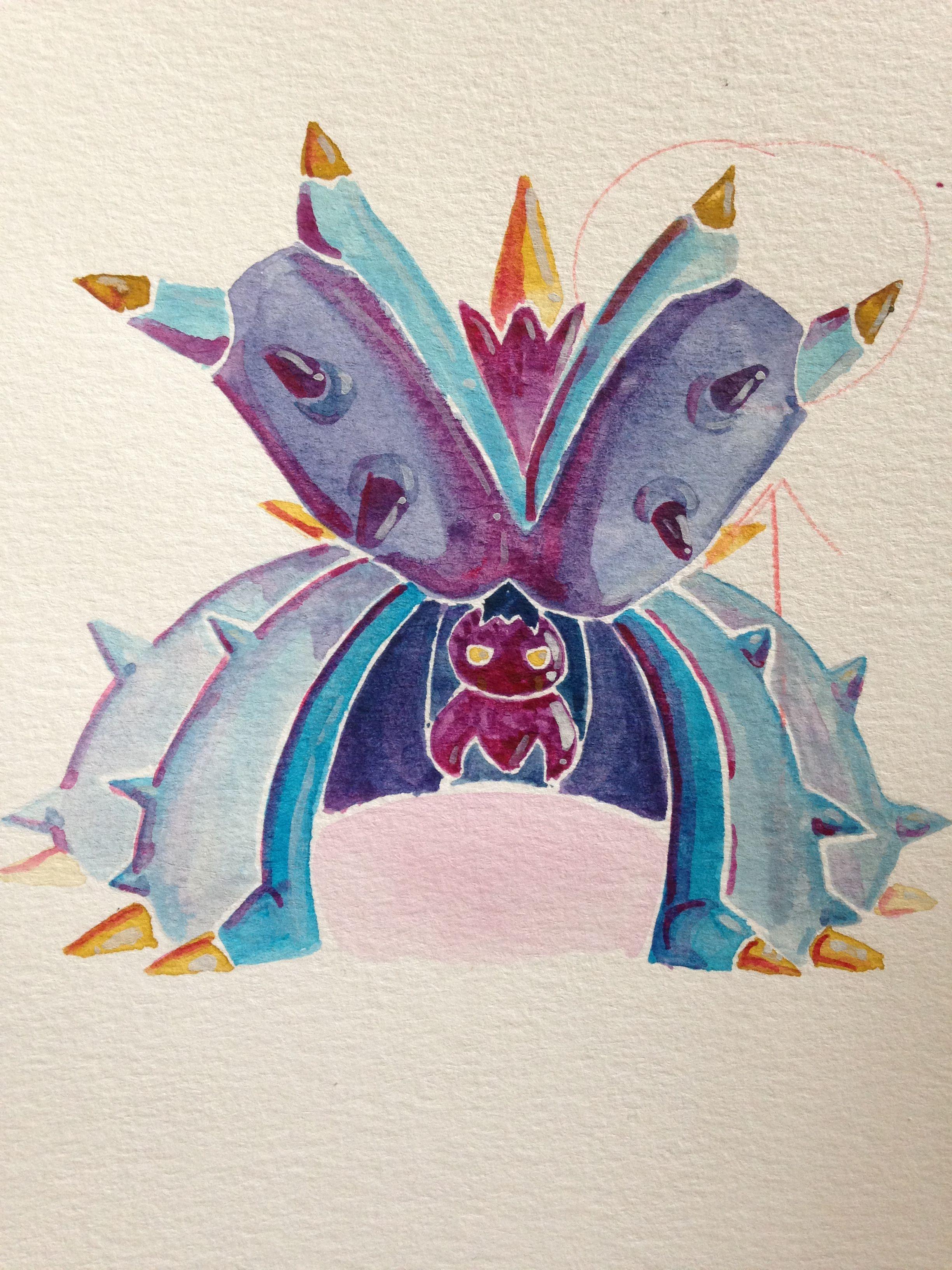 toxapex from pokémon sun moon watercolor art pokemon pinterest