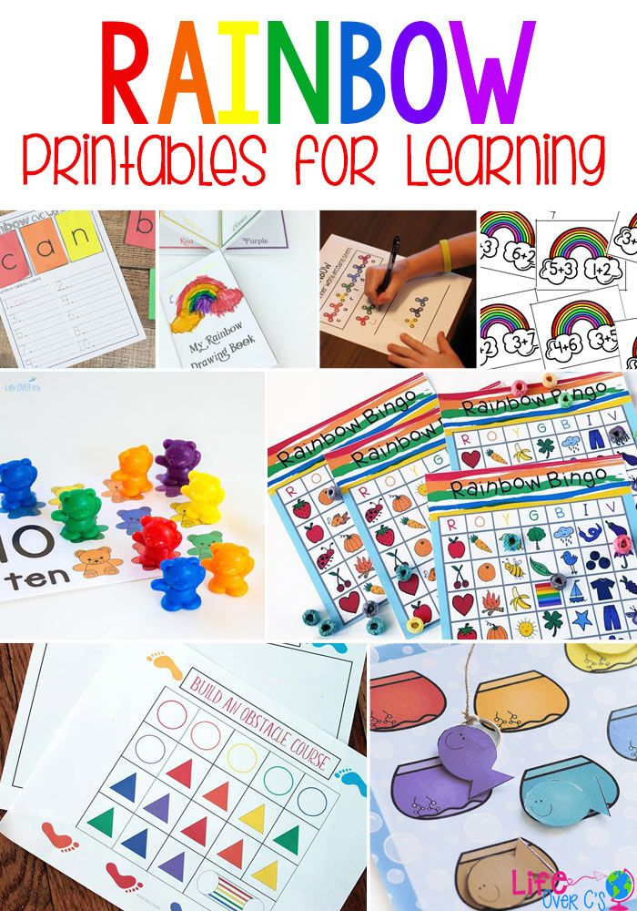 20 Rainbow Printables For Learning Learning With Life Over C S