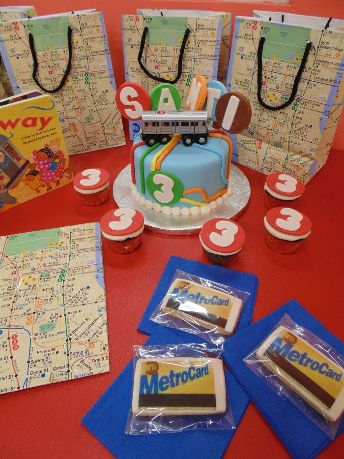 New York City Subway Party Theme Trains MetroCards and Subway