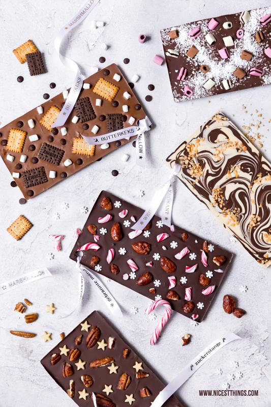 DIY Schokoladentafeln mit bedrucktem Band: Last Minute Geschenk - Nicest Things