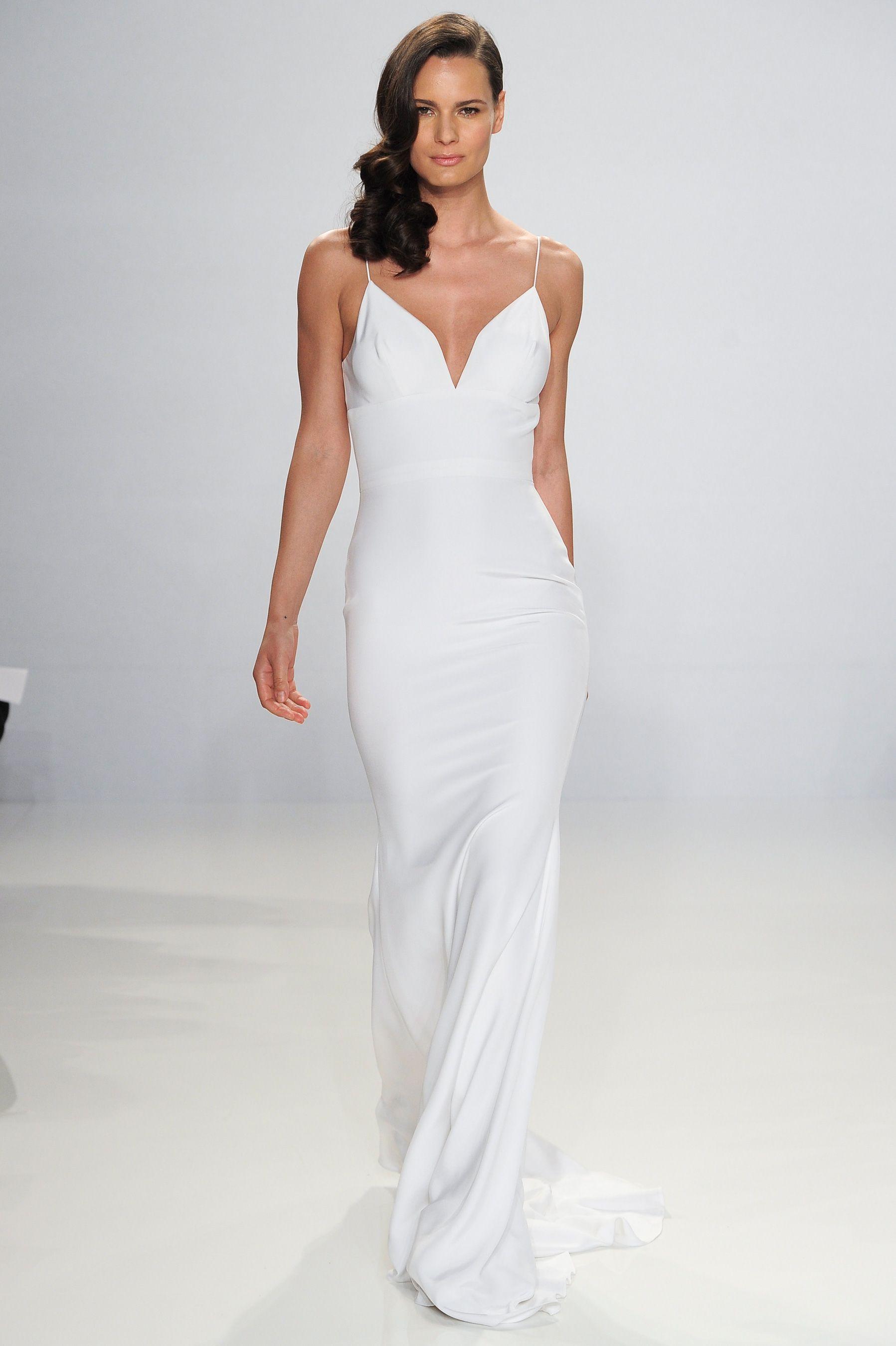 10 Beach Wedding Dresses You Can Buy Off The Rack Slip Wedding Dress Wedding Dresses Kleinfeld Christian Siriano Wedding Dresses