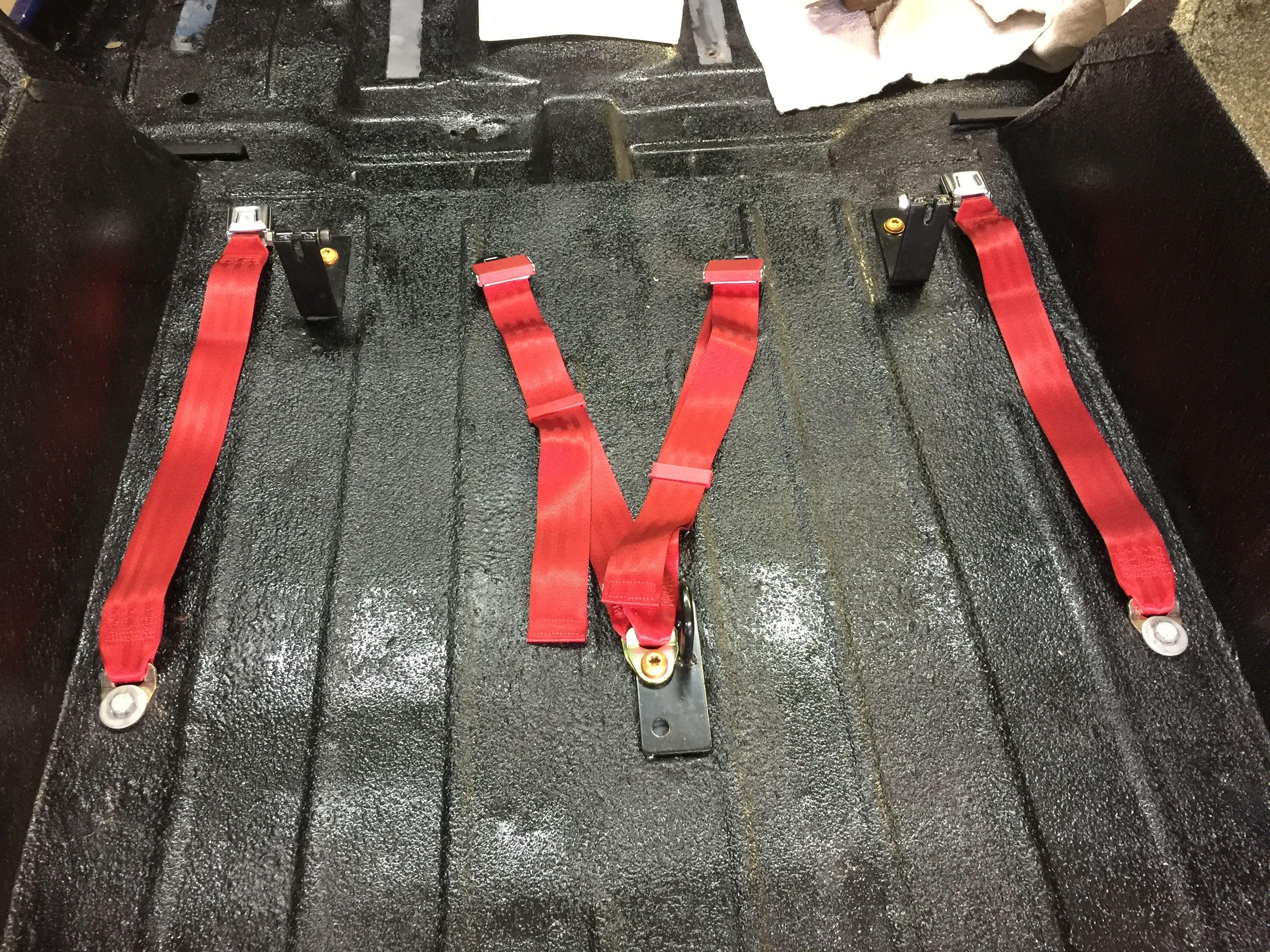 Rear Seat Belts Black Powder Coat Metallic Colors Jeep Cj