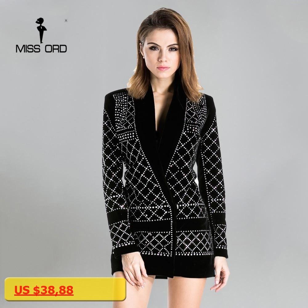 Missord sexy vneck longsleeved geometric studded velvet