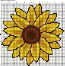 Resultado de imagen para girasol punto de cruz