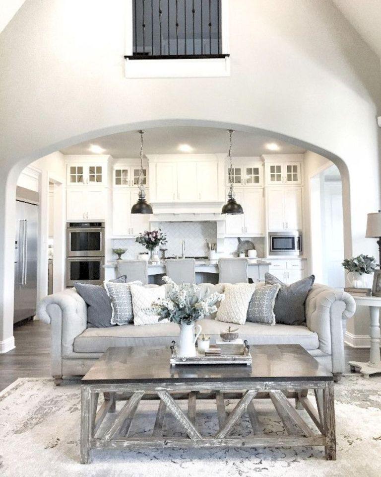 Modern farmhouse living room decor and design